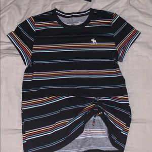 Abercrombie kids shirt with draw string in front